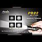 Фонарь электрический ручной Fenix PD22, Дальность луча: 113 м, Яркость: 210 (турбо), 105 (ярко), 45 (средне),, фото 6