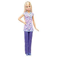 """Mattel Barbie DVF57 Барби Кукла из серии """"Кем быть?""""Медсестра"""