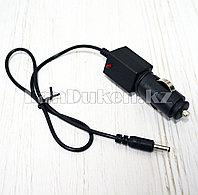 Автомобильная зарядка от прикуривателя 2,5мм с индикатором питания и кабелем 41см черная