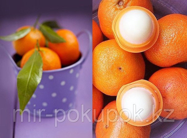 Бальзам для губ EOS Tangerine Лечебный Мандарин, Алматы