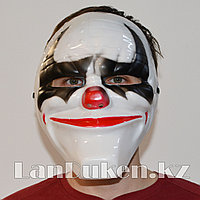 Маска для Хэллоуина Клоун с черными глазами