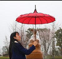 Зонтик-трость «Пекин», бордовый