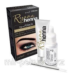 Крем хна (краска для бровей и ресниц) Henna Ryana, черная и коричневая , Алматы
