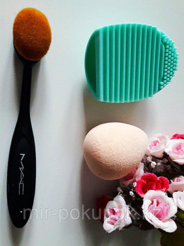 Распродажа! Подарочный набор МАС (кисть-щетка, спонж, силиконовое яйцо для мытья кистей BrushEgg), Алматы