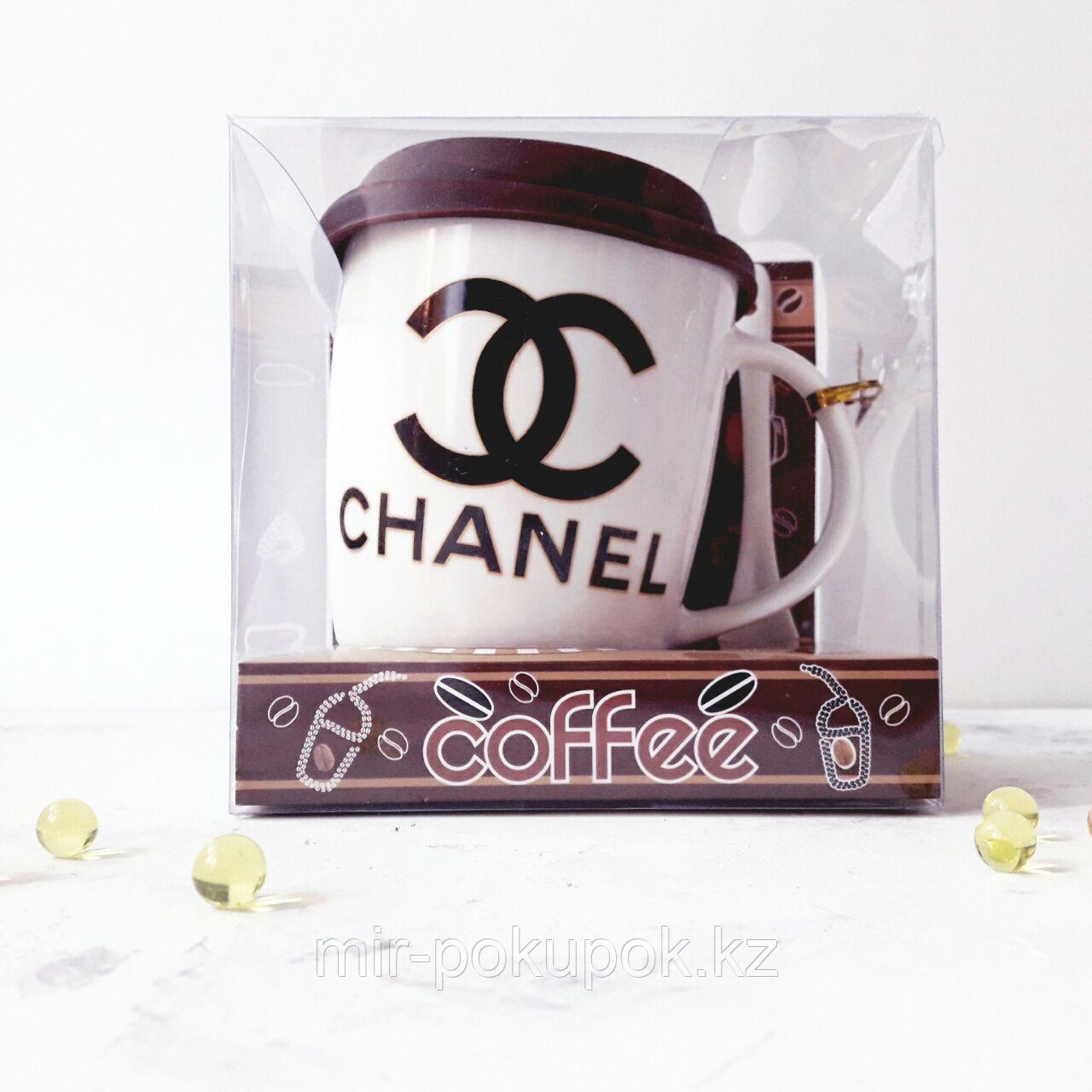 Керамическая Кружка с логотипом  Gucci с ложкой, Алматы
