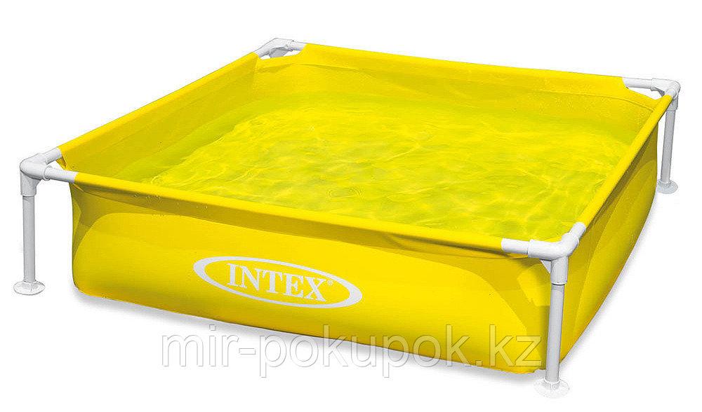 """Детский каркасный бассейн Intex """"Mini  frame pool' 57122 NP (122*122*30 см), Алматы"""