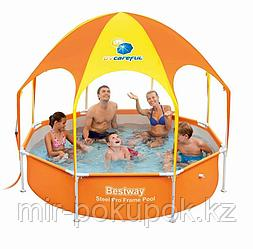 Каркасный семейный бассейн с навесом Bestway (244* 51 см) 56432, Алматы