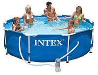 "Семейный каркасный бассейн Intex ""Metal Frame Pool"" (305х76 см) 28202, Алматы"