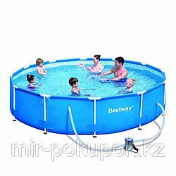 Каркасный круглый бассейн Bestway (305х76 см) 56408, Алматы