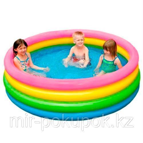 Детский надувной бассейн ''Радуга'' Intex 56441 (168 * 46 см), Алматы