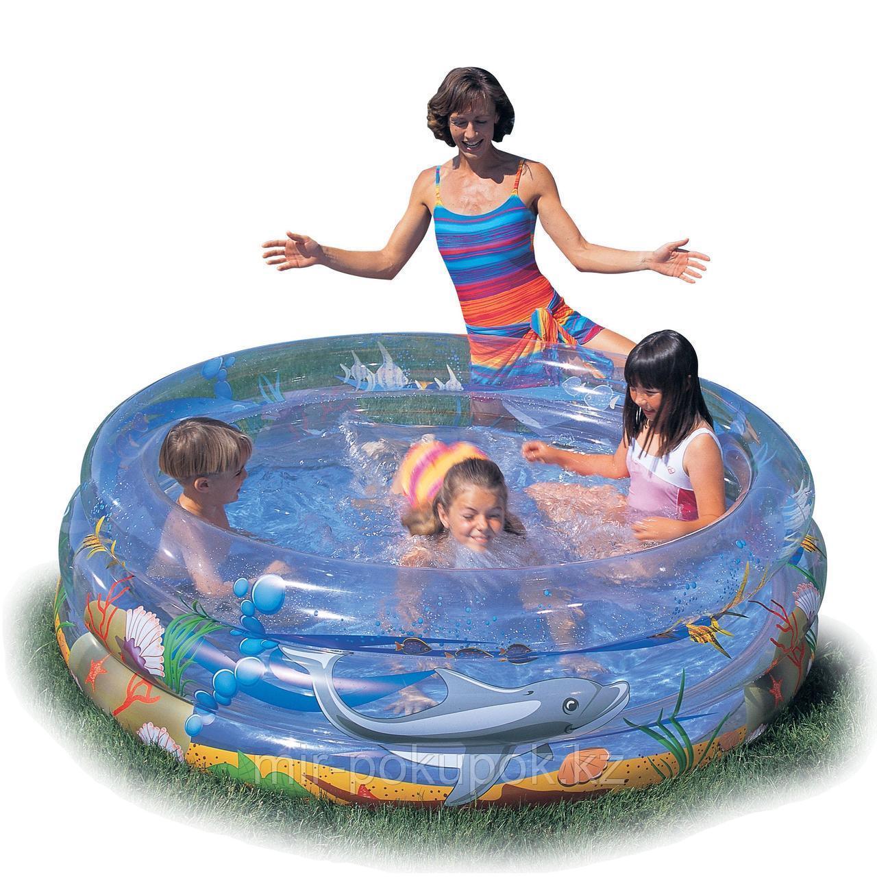 Детский надувной бассейн  Bestway «Морской мир» 51045 (150 х 53 см), Алматы