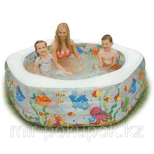 """Детский надувной бассейн  Intex 56493 """"Океанский риф"""" с надувным дном (191 x 178 x 61 см), Алматы"""