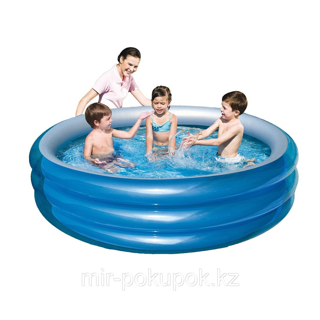 """Детский надувной бассейн """"Металик"""" Bestway 51042 (170 х 53 см), Алматы"""