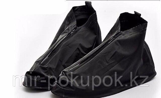 Водонепроницаемые бахилы черные (дождевики для обуви Rain boots), Алматы