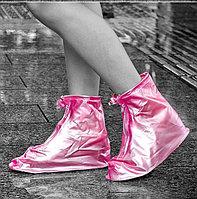 Защитные чехлы (дождевики, пончи, бахилы) для обуви от дождя и грязи с подошвой цветные