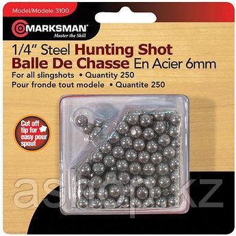 Стальные шарики Marksman 3100, Диаметр: 6,4 мм, 250 шт., Упаковка: Коробка