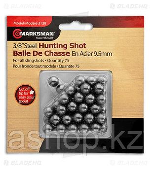 Стальные шарики Marksman 3138, Диаметр: 9,5 мм, 75 шт., Упаковка: Коробка