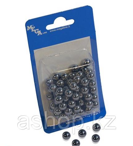 Металлические шарики Megaline 163/8, Диаметр: 6,3 мм, 100 шт., Упаковка: Коробка