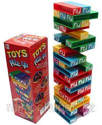 Настольная игра Jenga Toys Pile Up Uno Stacko, Алматы