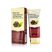 Распродажа! ББ крем увлажняющий, отбеливающий с муцином улитки Farm Stay BB Cream с фактором защиты от солнца
