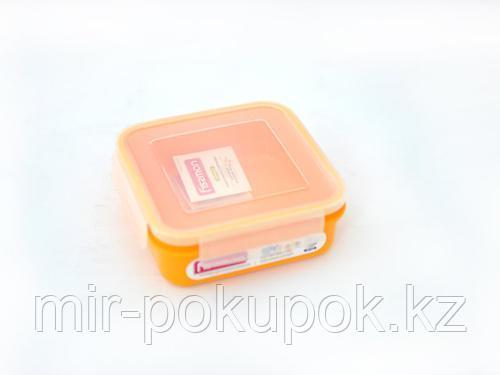 Распродажа! Квадратный пищевой контейнер для хранения продуктов 15x15x5,6 см / 700 мл (пластик) Fissman 6746