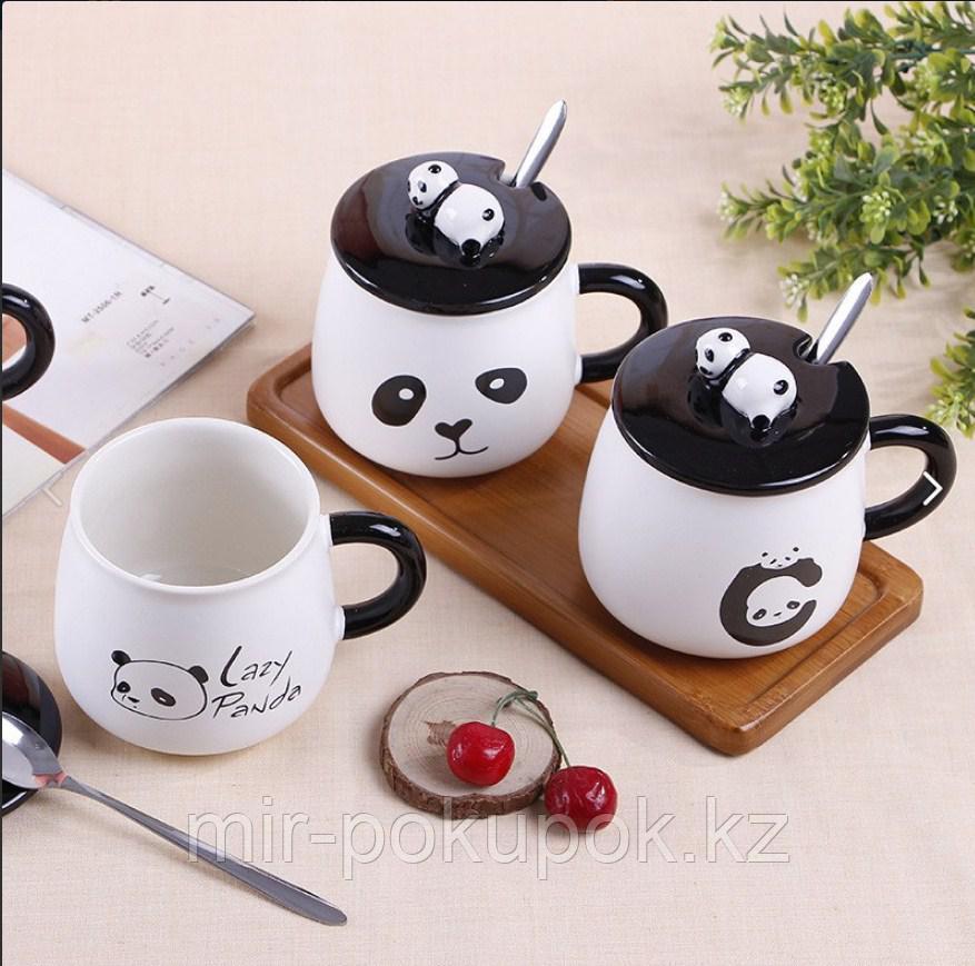 Забавный Cute Panda Керамическая Кемпинг кружка   Алматы.