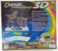 Волшебная 3Д Доска-Планшет для рисования Динозавр  Magic Drawing Board 3D, Алматы