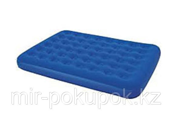 Матрас надувной двуспальный 203х152х23 см, max 215 кг, Bestway 67003, поверхность флок, Алматы