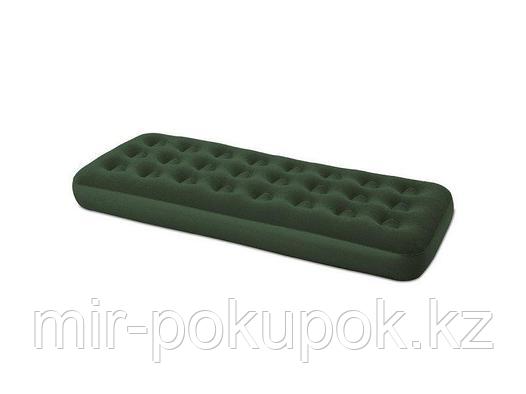 Матрас надувной односпальный 185х76х22 см, max 130 кг, Bestway 67446, поверхность флок, Алматы