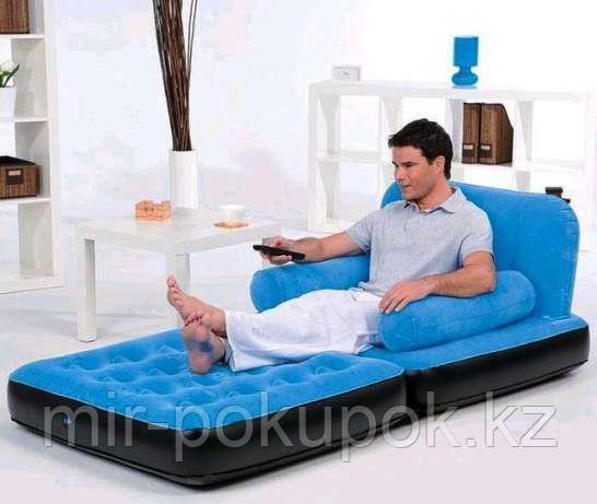 Диван надувной 191х97х64 см, max 227 кг, Bestway 67277, поверхность флок, Алматы
