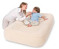 Кровать надувная детская 147х94х23 см, Bestway 67378, поверхность флок, Алматы