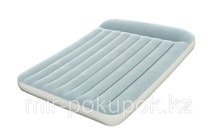 Кровать надувная двуспальная 191x137x30 см, Bestway 67462, поверхность флок, встроенный насос, Алматы