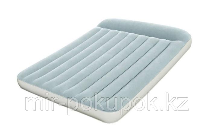 Кровать надувная двуспальная 203х152х30 см, Bestway 67464, поверхность флок, встроенный насос, Алматы
