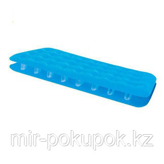 Матрас надувной односпальный 185х76х22 см, max 110 кг, Bestway 67387, поверхность флок, Алматы