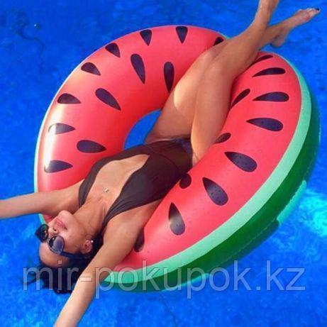 Надувной круг Арбуз. Для пляжа бассейна и вечеринок. Размер 90 см