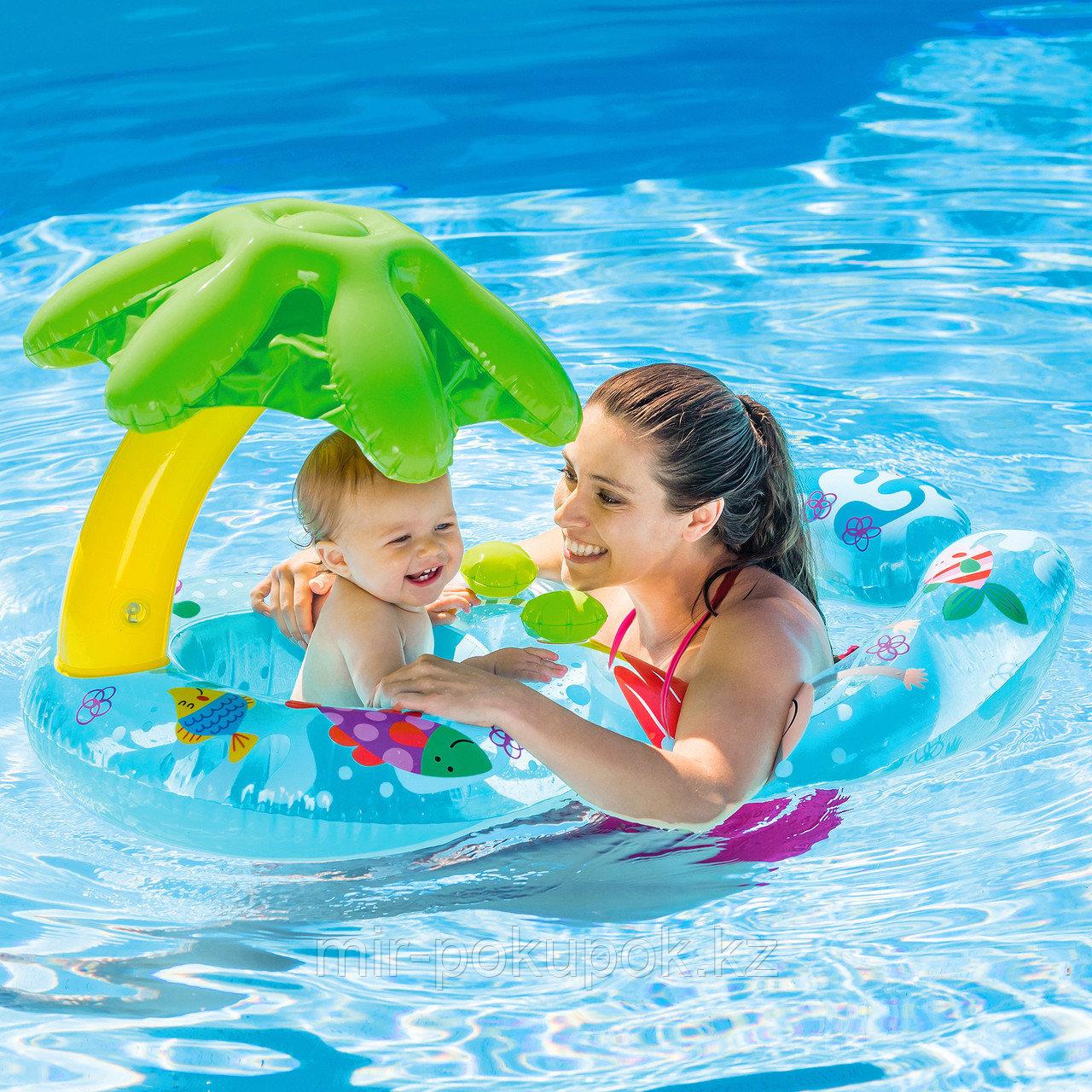 Надувной детский плавательный круг INTEX (для мамы и малыша), Алматы