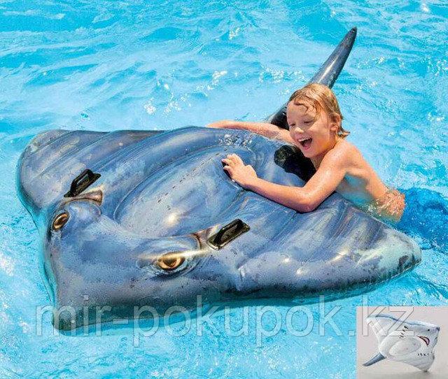 Детская надувная игрушка плот для купания на море, в бассейне СКАТ 57550 (188* 145 см), Алматы