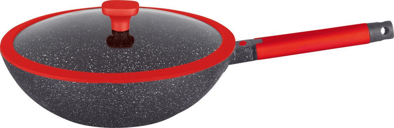Wок сковорода GRANHEL с крышкой  28 см., 3,5 л.