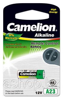 Батарейка Camelion A23-BP1 12 В, Упакова: Блистер 1 шт., Аналоги: A23\1181A\8LR23\LRV08\3LR50\K23A\MN21, Тип б