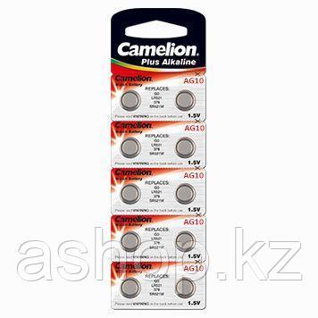 Батарейка Camelion AG10-BP10 1,5 В, Упакова: Блистер 10 шт., Аналоги: AG10\V10GA\LR1130\LR54, Тип батареи: Мар