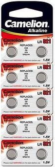 Батарейка Camelion AG0-BP10 1,5 В, Упакова: Блистер 10 шт., Аналоги: AG0\LR63\LR521, Тип батареи: Марганцево-ц