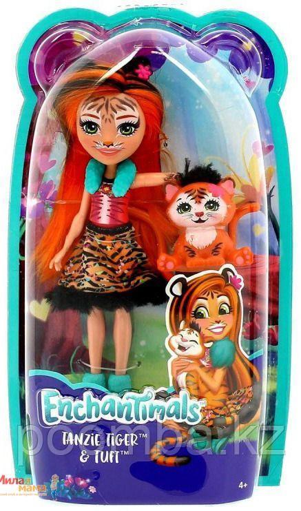 Enchantimals Кукла Танзи тигр с питомцем - фото 1