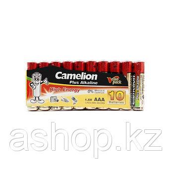 Батарейка Camelion LR03-SP10-DA 1,5 В, Упакова: Блистер 10 шт., Аналоги: LR03\24A\AAA\А286, Тип батареи: Щелоч