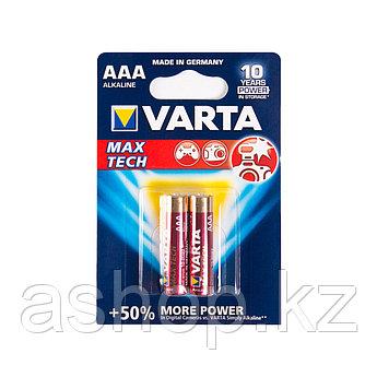 Батарейка VARTA LR03-BP2DG Max tech Micro 1,5 В, Упакова: Блистер 2 шт., Аналоги: LR03\24A\AAA\А286, Тип батар