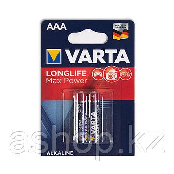 Батарейка VARTA LR03-BP2DG Long Life Max Power Micro 1,5 В, Упакова: Блистер 2 шт., Аналоги: LR03\24A\AAA\А286