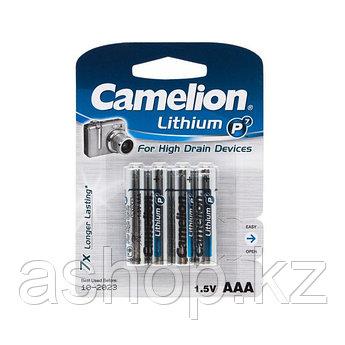 Батарейка Camelion FR03-BP4 1,5 В, Упакова: Термоусадочная упаковка 4 шт., Аналоги: LR03\24A\AAA\А286, Тип бат
