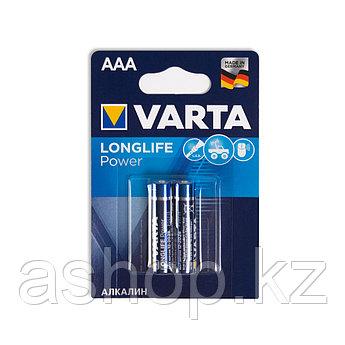 Батарейка VARTA LR03-BP2DG Long Life Power Micro 1,5 В, Упакова: Блистер 2 шт., Аналоги: LR03\24A\AAA\А286, Ти