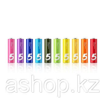 Батарейка Xiaomi NQD4000RT Rainbow 5 AA 1,2 В, Упакова: Коробка 10 шт., Аналоги: LR6\15A\AA\А316, Тип батареи: