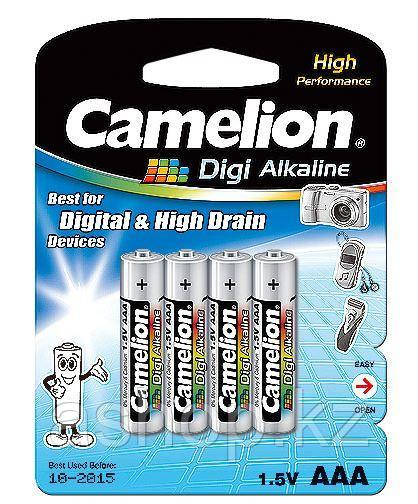 Батарейка Camelion LR03-BP4DG 1,5 В, Упакова: Блистер 4 шт., Аналоги: LR03\24A\AAA\А286, Тип батареи: Щелочная