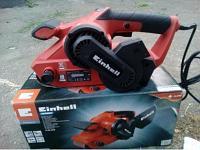 Ленточная шлифовальная машина Einhell TC-BS 8038 Мощность 800Вт